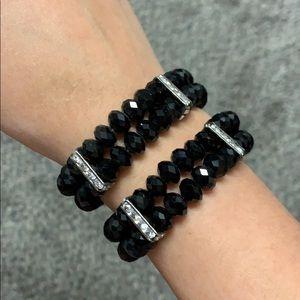 Black Bracelets x2 (Costume Jewelry)